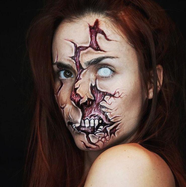 Cadılar Bayramı Makyajı | Korkunç Makyaj Tasarımları