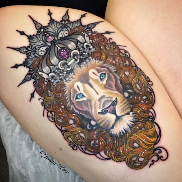 aslanlı dövme