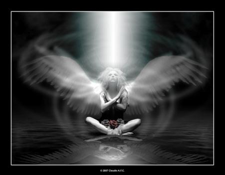 ışıklı melek resmi