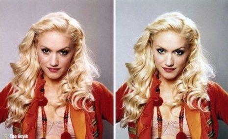 Ünlülerin Photoshop Öncesi ve Sonrası Fotoğrafları