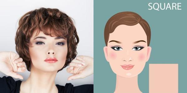 Kare yüz şekline göre saç modelleri