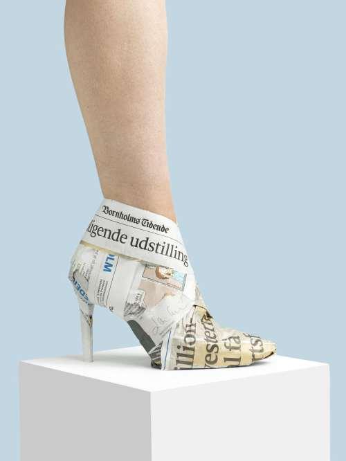 gazete ayakkabı