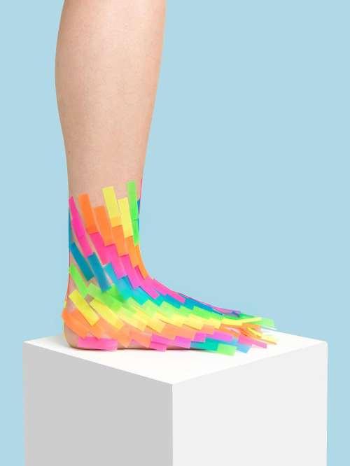 renkli kağıt ayakkabı