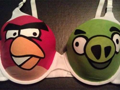 angry birds oyun sütyeni
