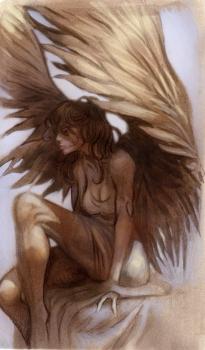 güzel melek resmi