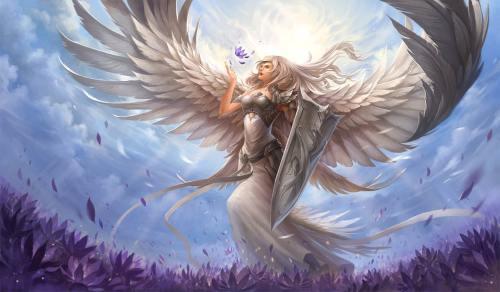 büyük kanatlı çizim melek resmi