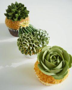 çiçekli muffin