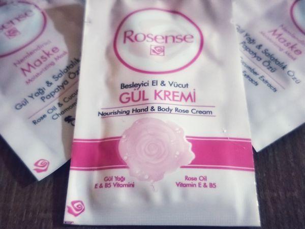 Rosense gül kremi besleyici el ve vücut