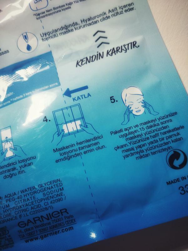 Garnier hyaluronik asit maske