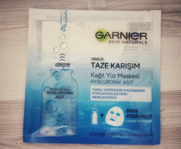 Garnier kağıt maske